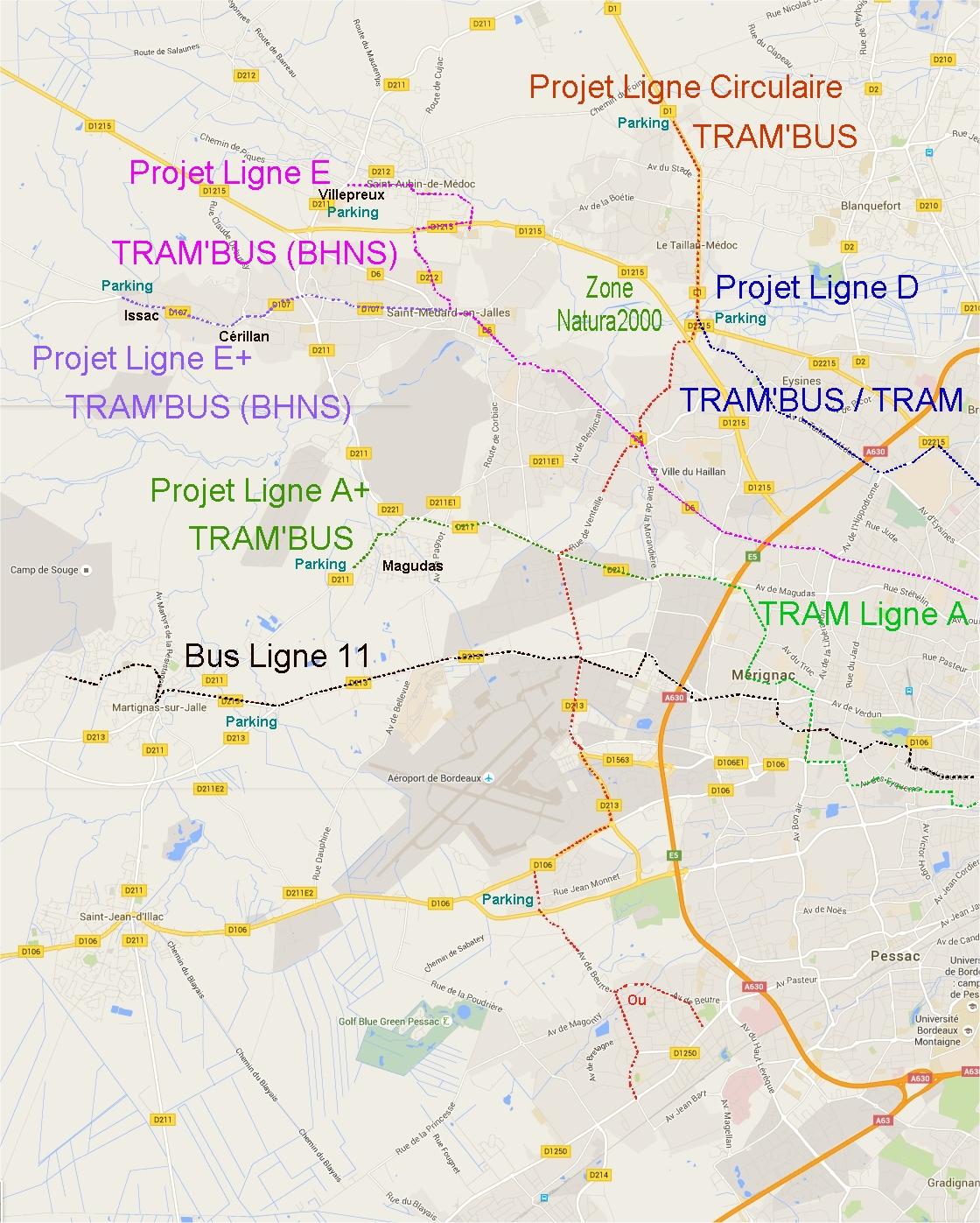 Ligne circulaire Ouest-Nord-Ouest Bordeaux 8